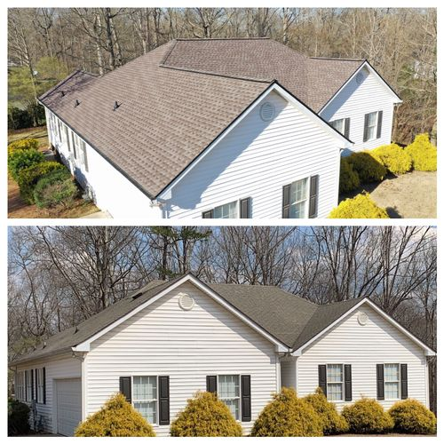 Timberline HD Mission Brown Roof Replacement in Canton GA