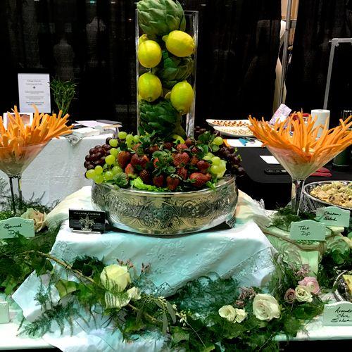 Closeup of bridal table