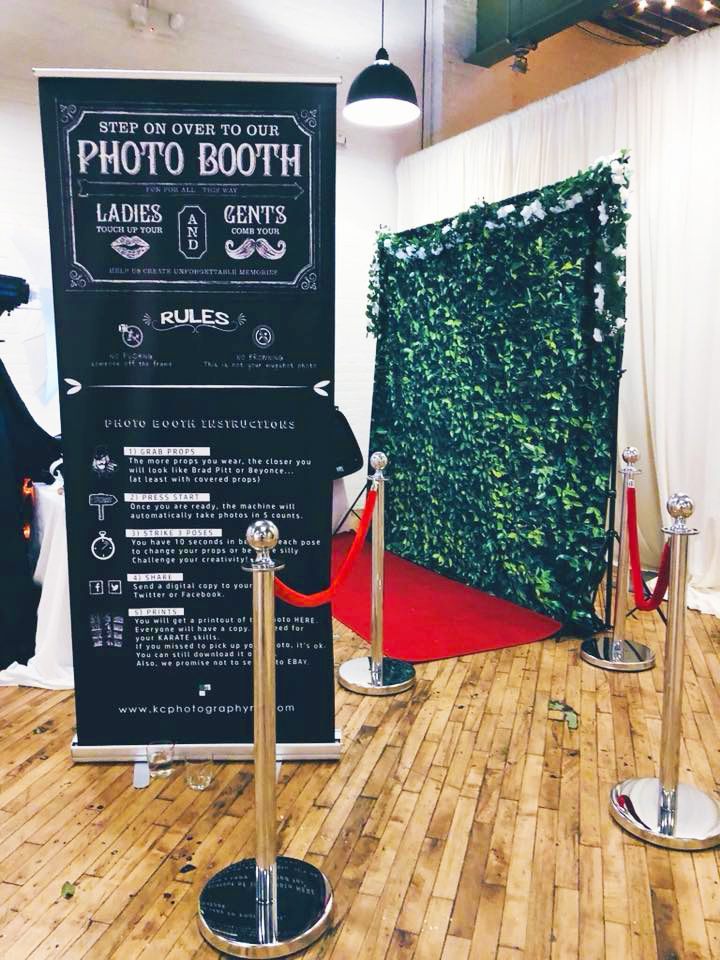 CUSTOM PHOTO BOOTH AREA