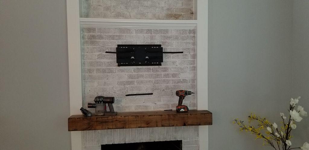 Brick Fireplace Install