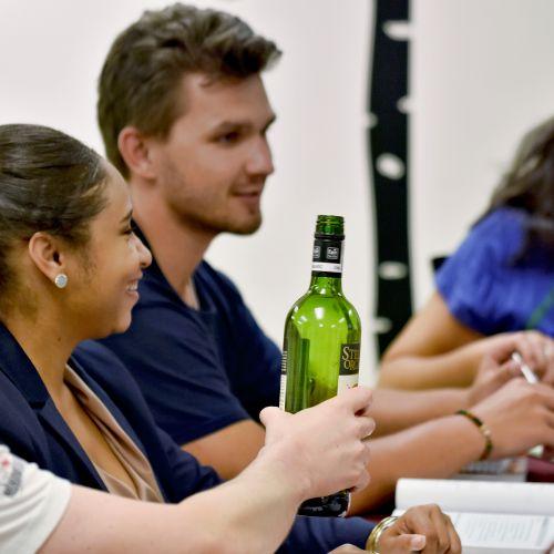 Free wine in each class!