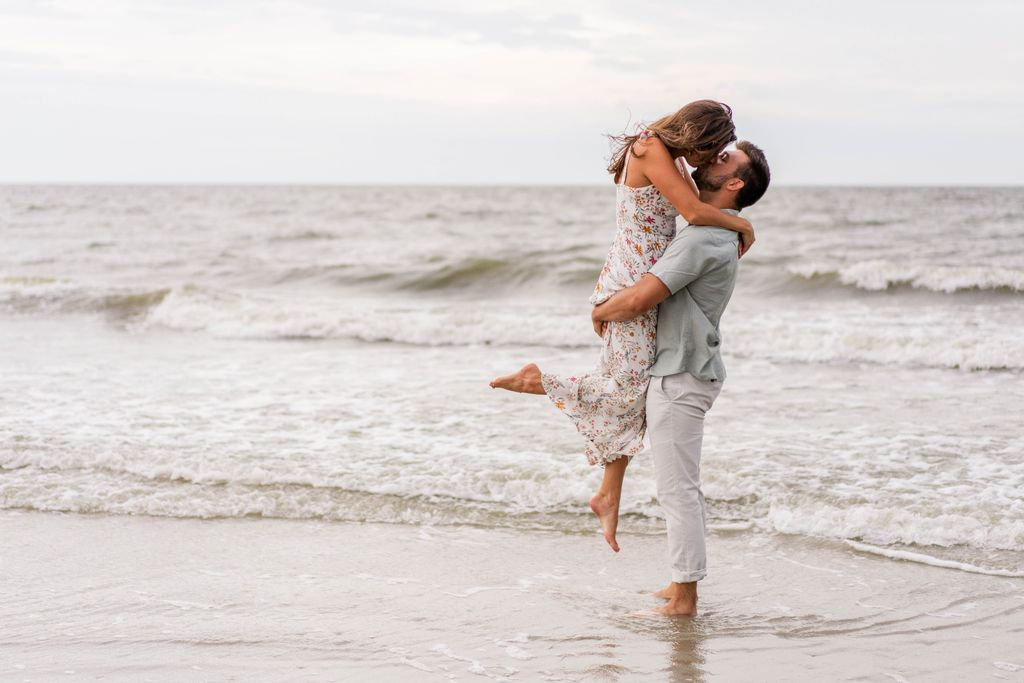 Folly Field Beach Park Engagement Session