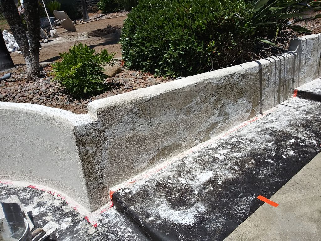 Block wall repair and restucco