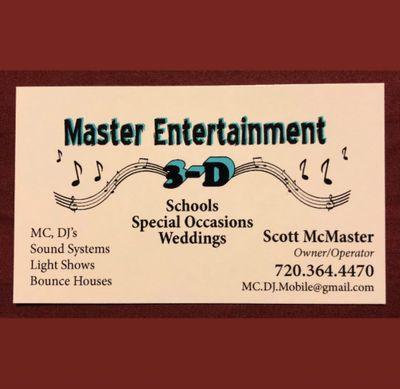 Avatar for Master Entertainment /DDD  Mobile 3D Littleton, CO Thumbtack