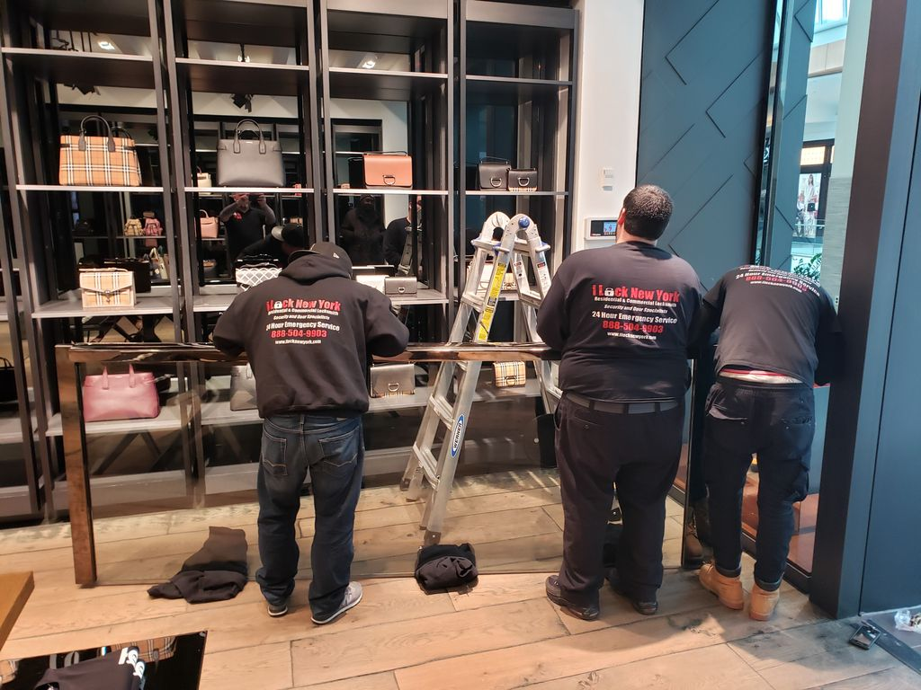 Oversized all glass storefront door repairs