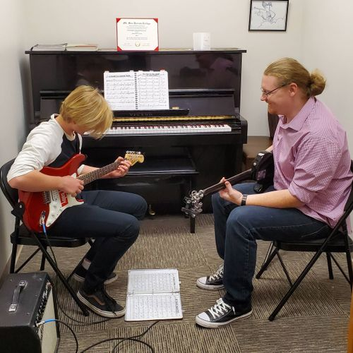 Working with one of my students in my office.