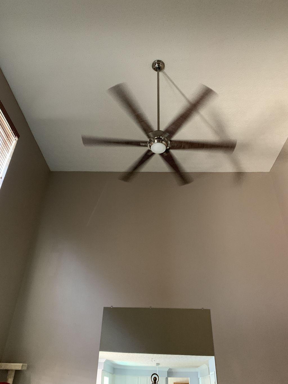 High ceiling fan install