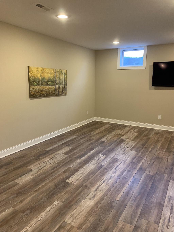 12mm luxury vinyl flooring in basement
