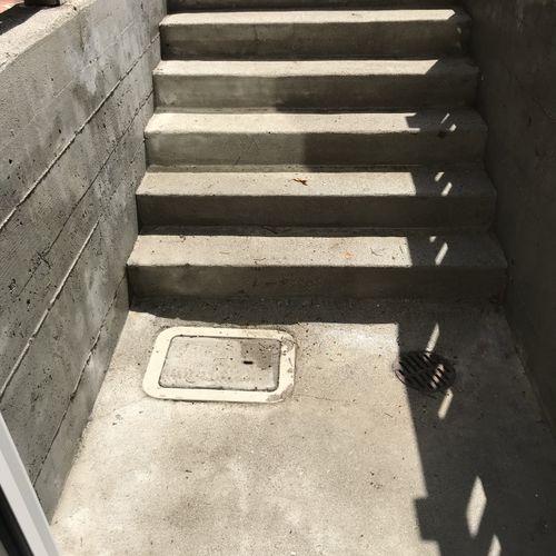 Concrete steps after