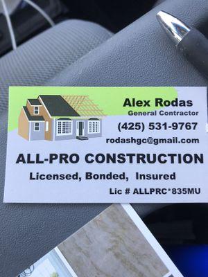 Avatar for ALL-PRO CONSTRUCTION Lynnwood, WA Thumbtack
