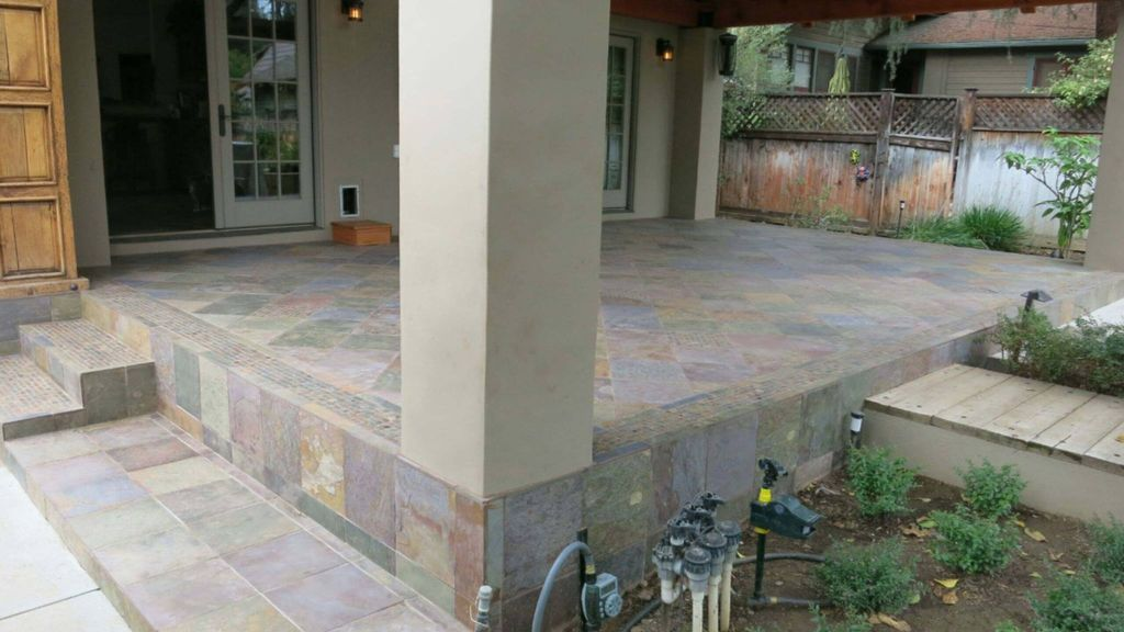 Slate Outdoor Flooring and Steps