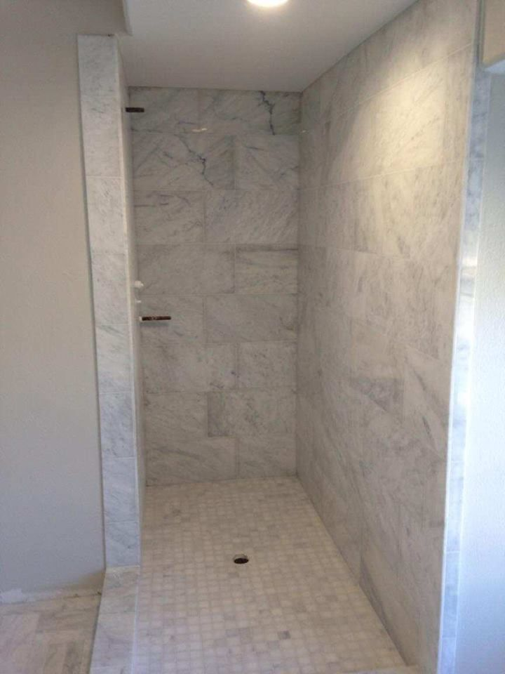 Carrera Marble Shower and Flooring