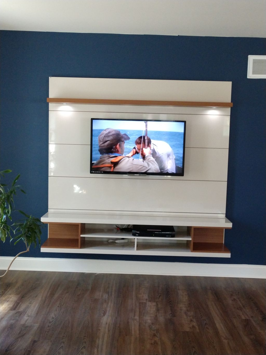 Wall entertainment system we installed
