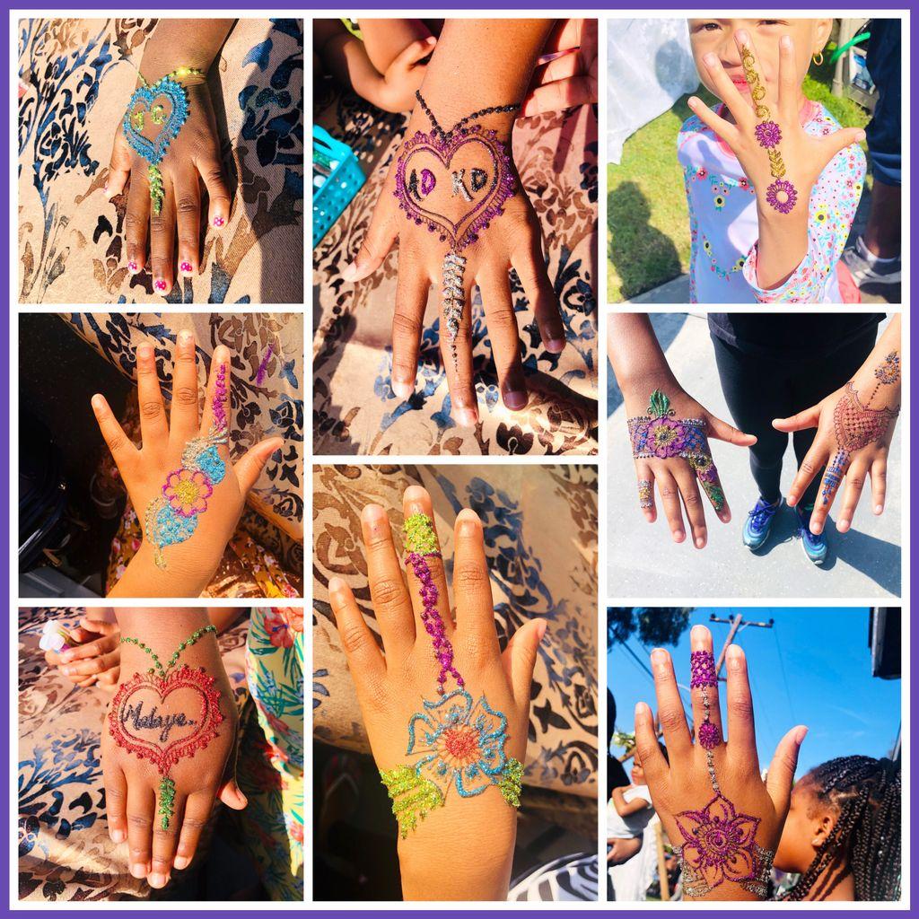 Birthday Party - GLITTER Natural Henna