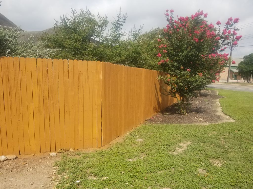 install new fence and removal and paint