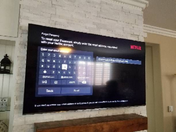 TV MOUNT AND CABLES CONCEALED