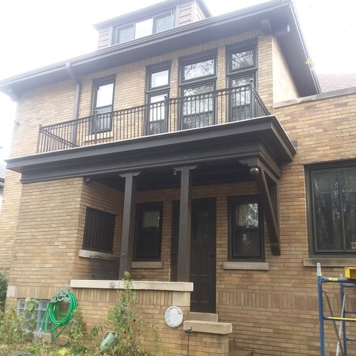 Completed 1917 house restoration