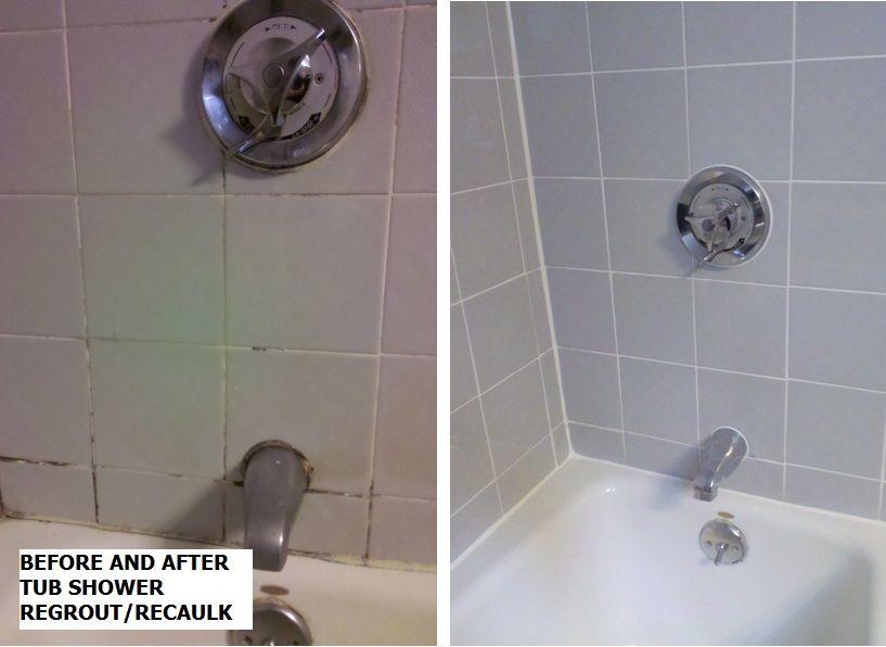 Regrout and recaulk tub shower