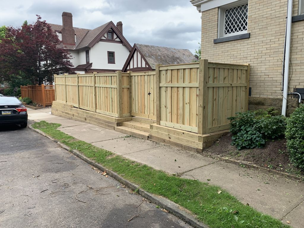 Retaining wall and Privacy Fence