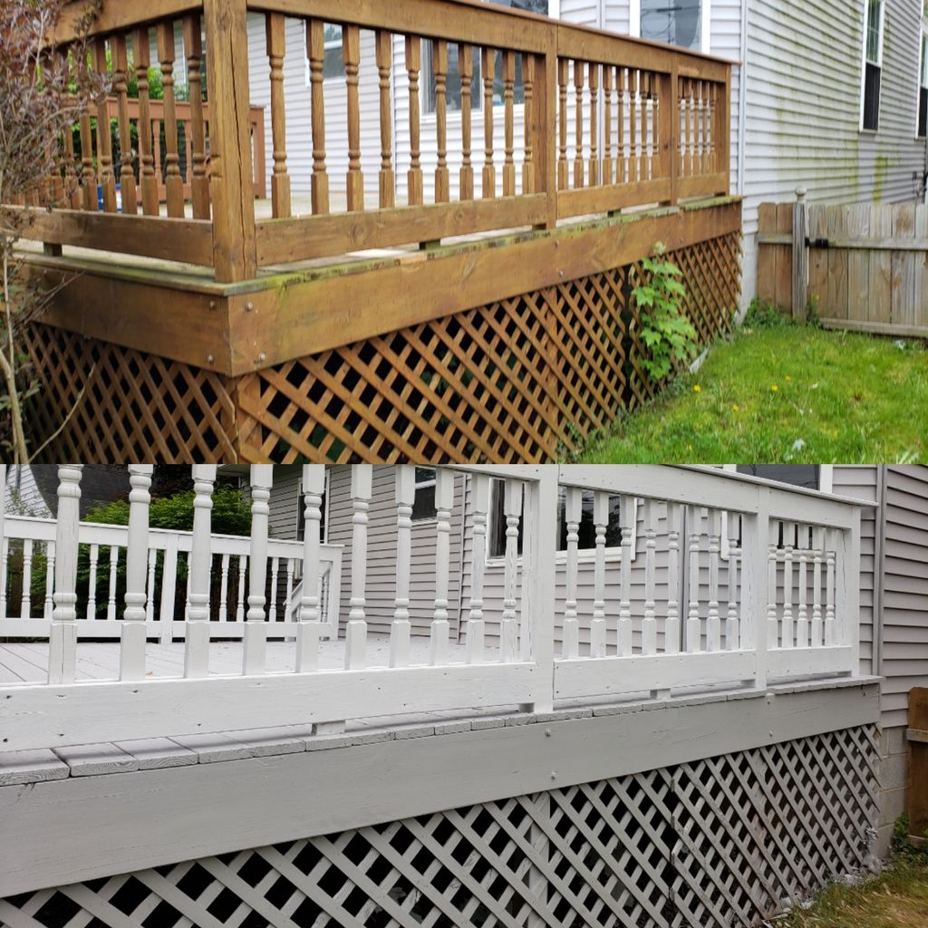 Deck cleaning,stripping,and restain