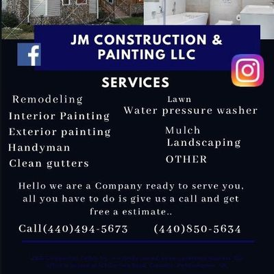 Avatar for JM Construction & Painting LLC Painesville, OH Thumbtack