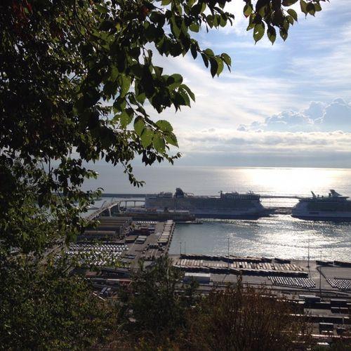 Ships in port. Barcelona
