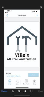 Avatar for Villa's All Pro Construction