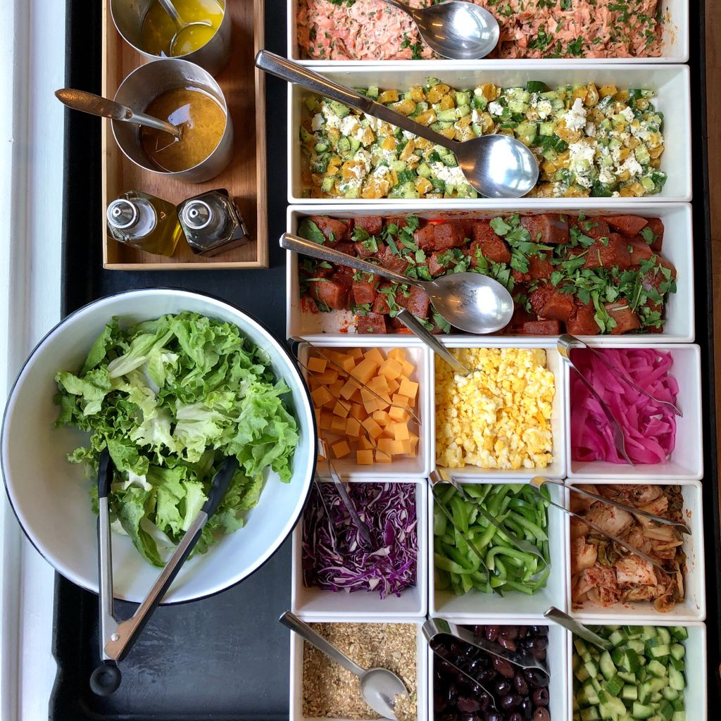 Photo of salad bar options