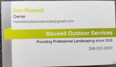 Avatar for Maxwell Outdoor Services LLC Sterling Heights, MI Thumbtack