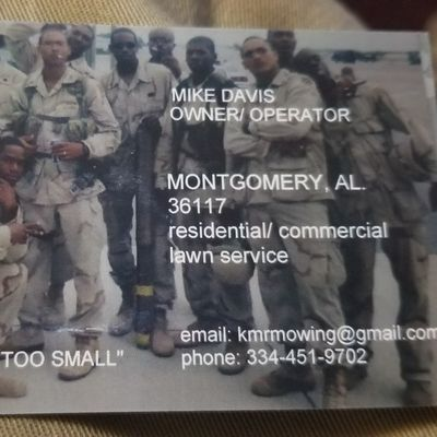 Avatar for KMR MOWING (Veteran-owned) Montgomery, AL Thumbtack