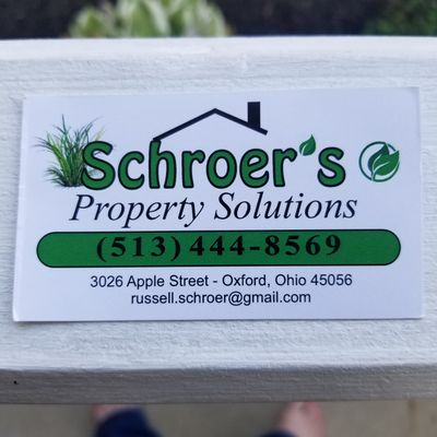 Avatar for Schroer's Property Solutions LLC Oxford, OH Thumbtack
