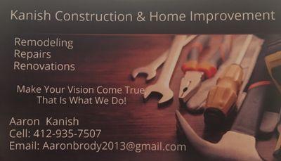 Avatar for Kanish Construction & Home Improvement Carnegie, PA Thumbtack