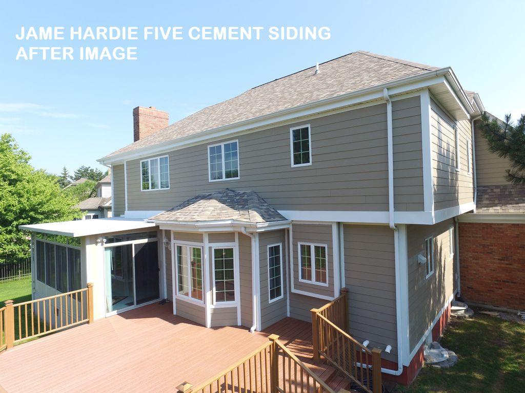 New Composite Deck & James Hardie - Fiber Cement Siding