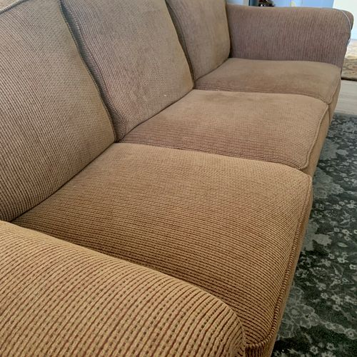 About to clean this sofa