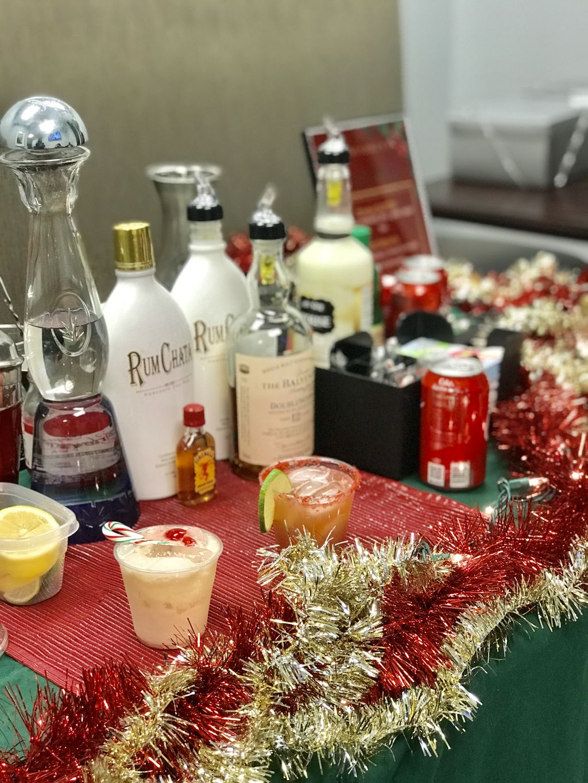 Holiday themed Bar Setup
