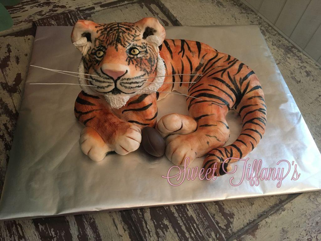 3D Auburn tiger