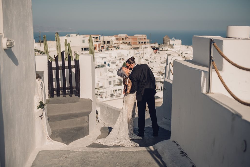 Alex & Amy's Santorini Wedding
