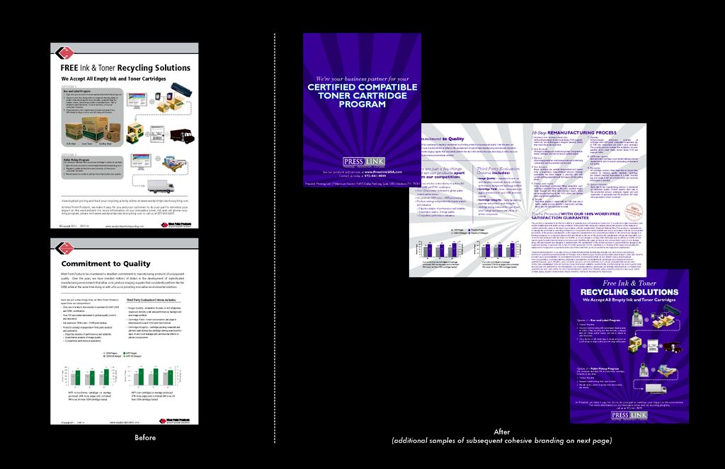Press Link Before and after brochure