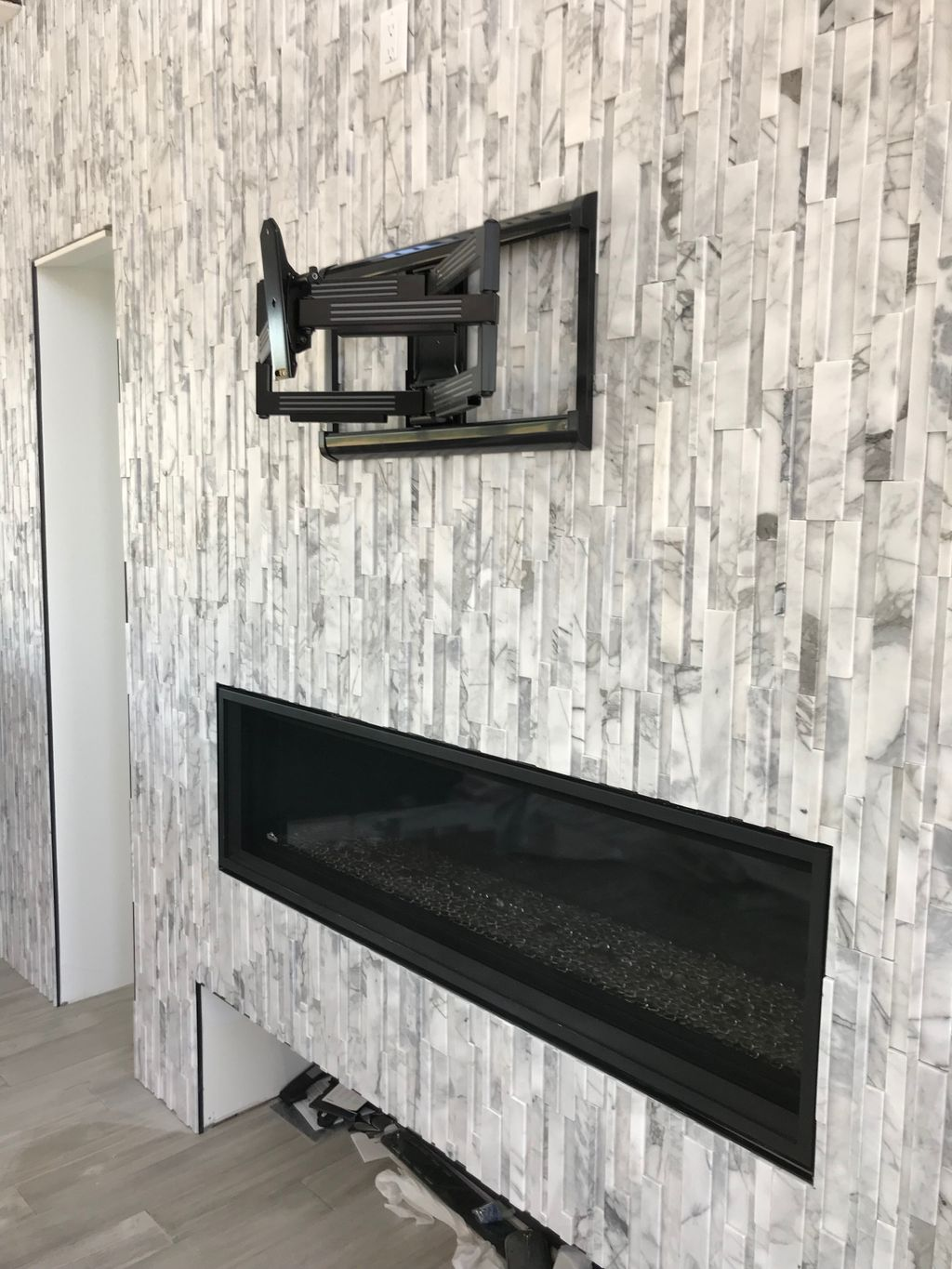 Tile Fireplace Mount