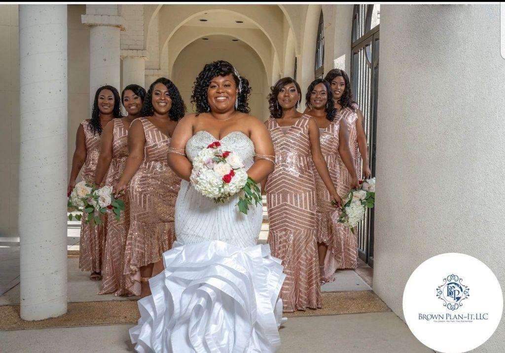 Bride and Bridesmaid dress