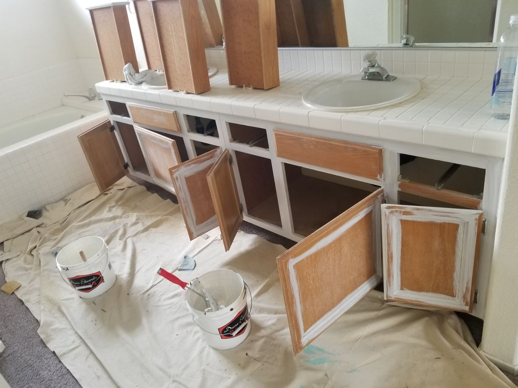 Bathroom Cabinets Refinished