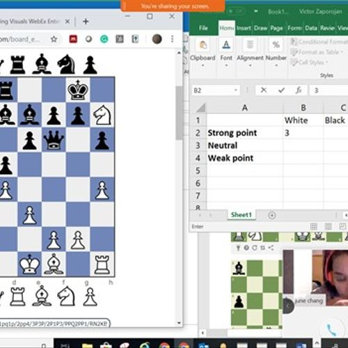 WebEx based online Small Group Lesson to learn Strategy and Tactics. Fun learning