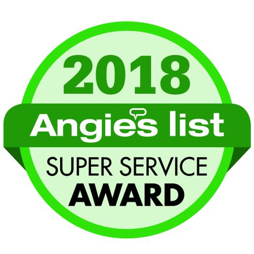 We have been Angie's List Super Service Award Winners 7 years in a row