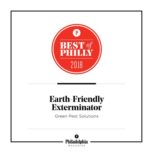 We Were Named Best of Philly Earth Friendly Exterminator in 2018