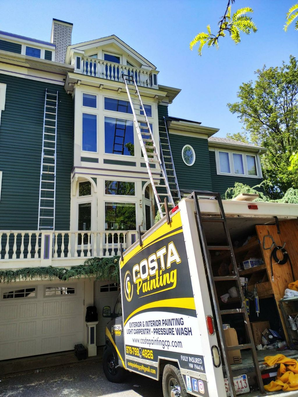 Exterior paint work and light carpentry