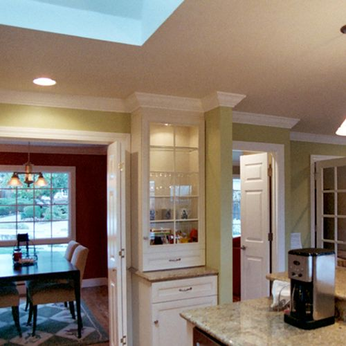 Whole House Remodel with Kitchen Island, Skylight & New Entry, San Carlos, CA