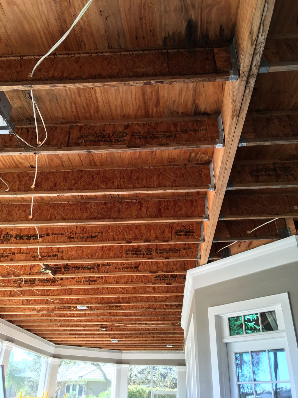 Tongue and groove 1800 sq ft ceiling