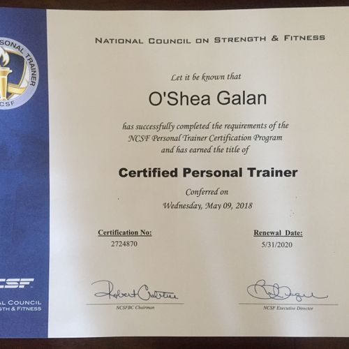 National Council on Strength & Fitness Certification