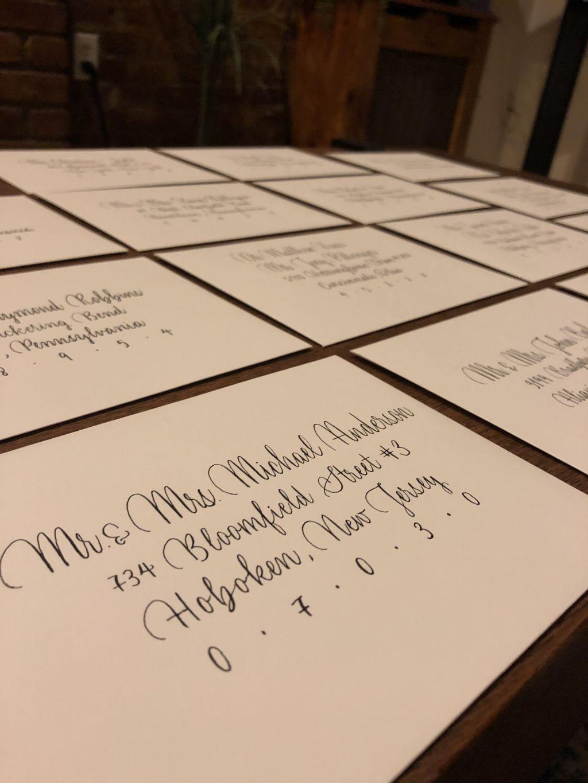 Full Service Mailing Invitation Calligraphy for 100 Envelopes