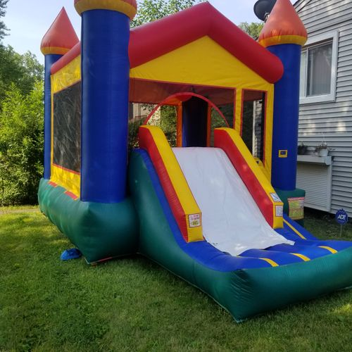 combo/slide small front yard